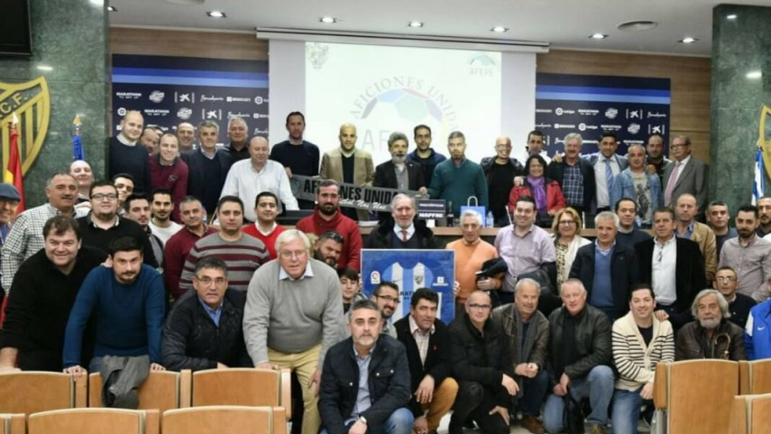 Reencuentro de las peñas del Málaga CF en La Rosaleda