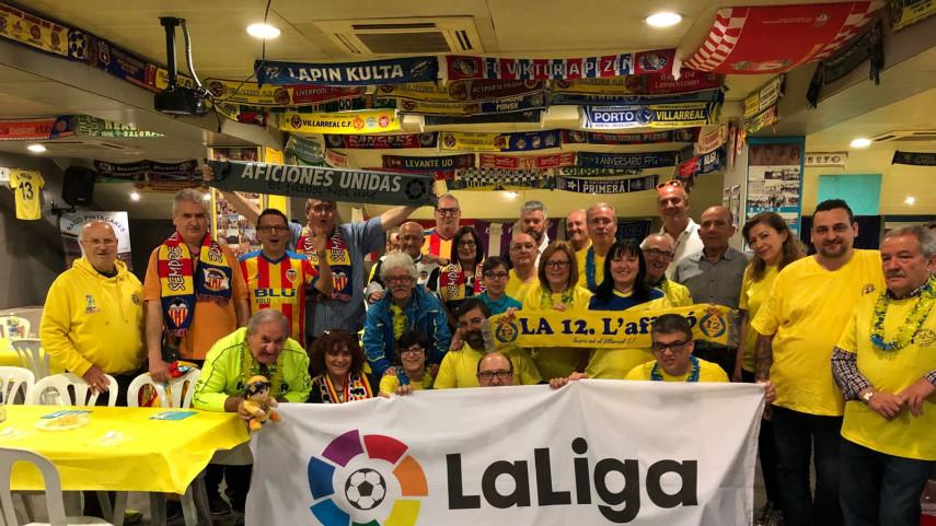 Las Agrupaciones de Peñas de Villarreal y Valencia CF, protagonistas antes del derbi