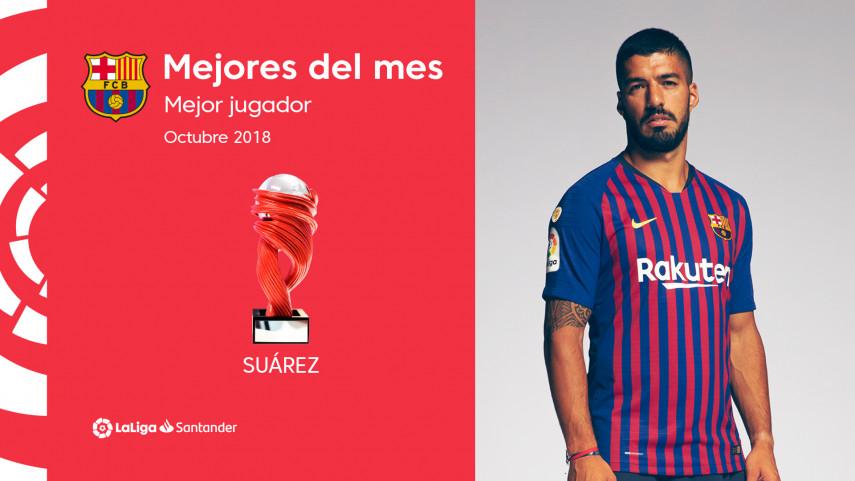 Suárez, Mejor Jugador de LaLiga Santander en octubre