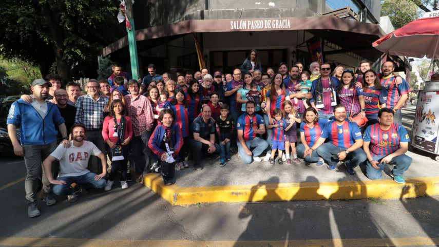Las peñas del Barça en México se reúnen para ver el derbi catalán
