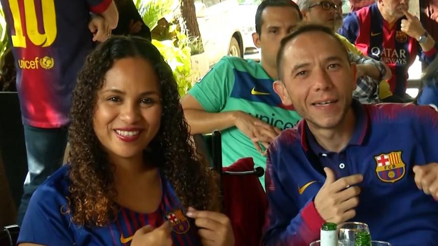 Así fue el primer encuentro de las peñas del Barça en México