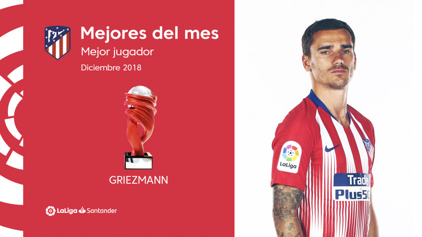 Griezmann, Mejor Jugador de LaLiga Santander en diciembre
