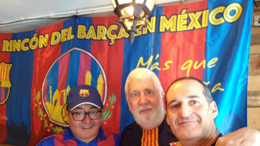 Las peñas de México celebran el título liguero del Barça